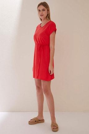 Defacto Belden Bağlama Detaylı Örme Elbise 2