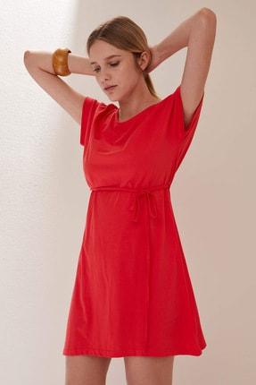 Defacto Belden Bağlama Detaylı Örme Elbise 3