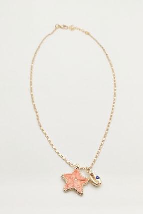 Lolita Takı Kadın Deniz Yıldızı Kolye Oranj Renk 1