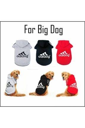 Kemique Gri Kapşonlu Adidog Sweatshirt Büyük Köpekler Için 1