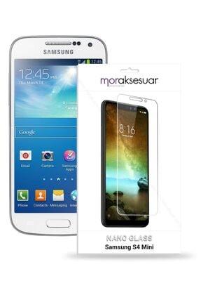 Moraksesuar Samsung Galaxy S4 Mini Ekran Koruyucu Cam Süper Ince 0