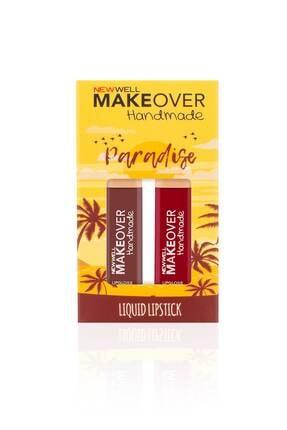 New Well Makeover Handmade 2li Liquid Lipstick Paradise 4ml 1