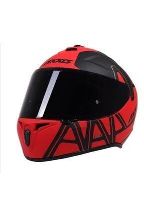 AXXIS Dekers Mat Kırmızı Kapalı Kask 2