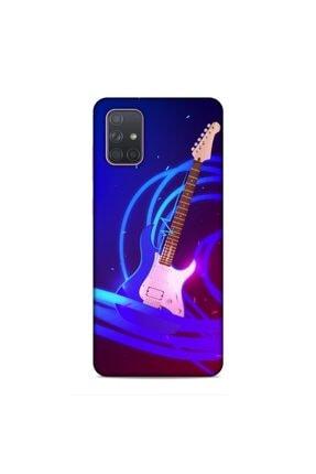 Pickcase Samsung Galaxy A71 Kılıf Desenli Arka Kapak Gitar 0