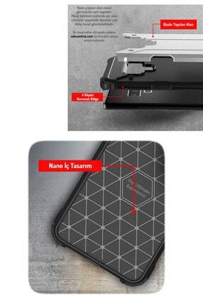 """Cekuonline Iphone 12 6.1"""" Kılıf Desenli Antishock Crash Kapak - Mavi Geo 1"""