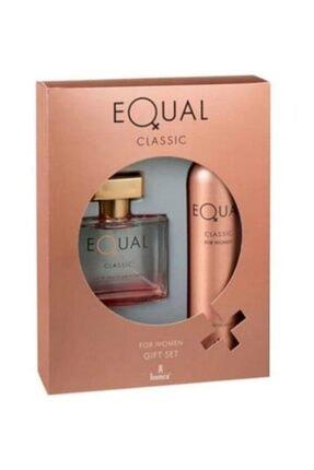Equal Classic Edt 75 ml ve Deodorant 150 ml Kadın Parfüm Seti 869097302872311 0