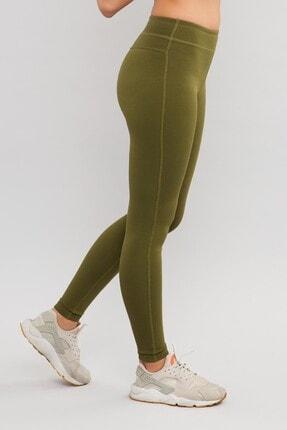 bilcee Yeşil Likralı Pamuklu Kadın Tayt ES-3625 3