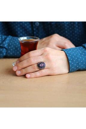 Online Hediye Sepeti Oniks Taşlı Mikro Zirkon Taş Mıhlamalı 925 Ayar Gümüş Erkek Yüzük 1