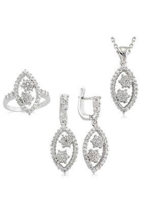 Ouis silver Gümüş Zirkon Taşlı Bayan Set 0