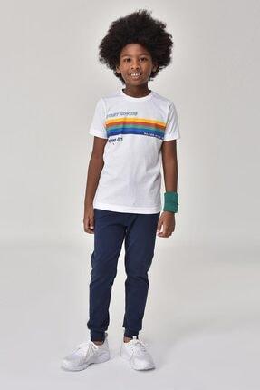 bilcee Unisex Çocuk Beyaz T-Shirt GS-8145 1