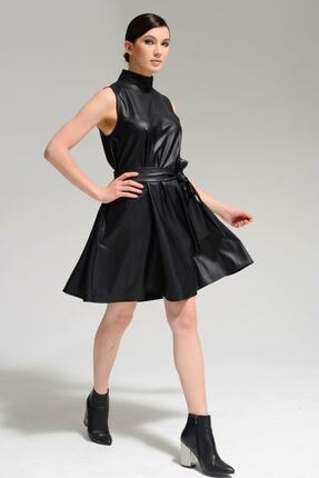Batik Kadın Siyah Duz Casual Elbıse 2