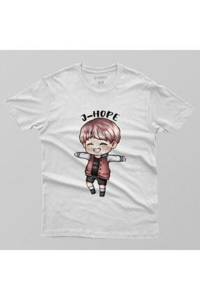 Crazy Bts Cartoon J-hope Chibi Erkek Tişört 1