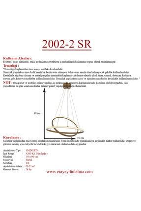Eray Aydınlatma 2002-2 Eskitme Led Avize 2