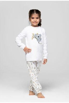 JUST BASIC Anne Kız Ekru Koala Pijama Takımı 3