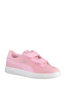 Puma SMASH V2 GLITZ GLAM Pembe Kız Çocuk Koşu Ayakkabısı 100662836 3