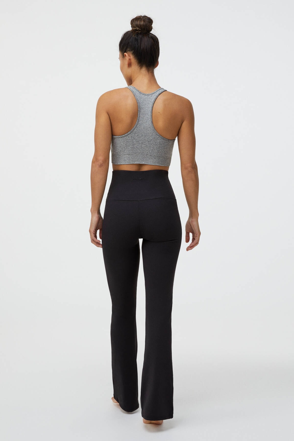 Oysho Kadın Siyah Flare Comfort Pantolon 4