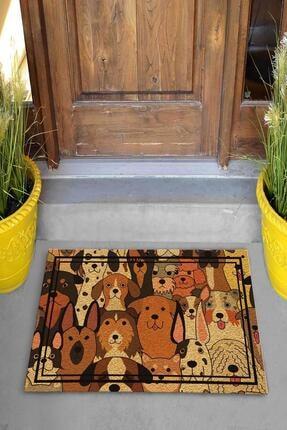 Evsebu Somurtkan Ve Gülen Köpekler Dekoratif Kapı Önü Paspası 3