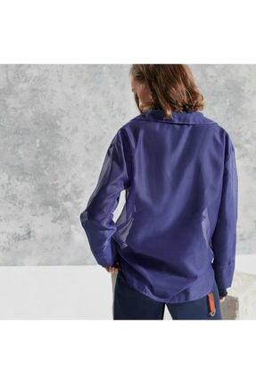 Yargıcı Kadın Mor Yaka Detaylı Bluz 3