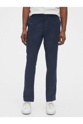 GAP Slim Fit Keten Khaki Pantolon 0
