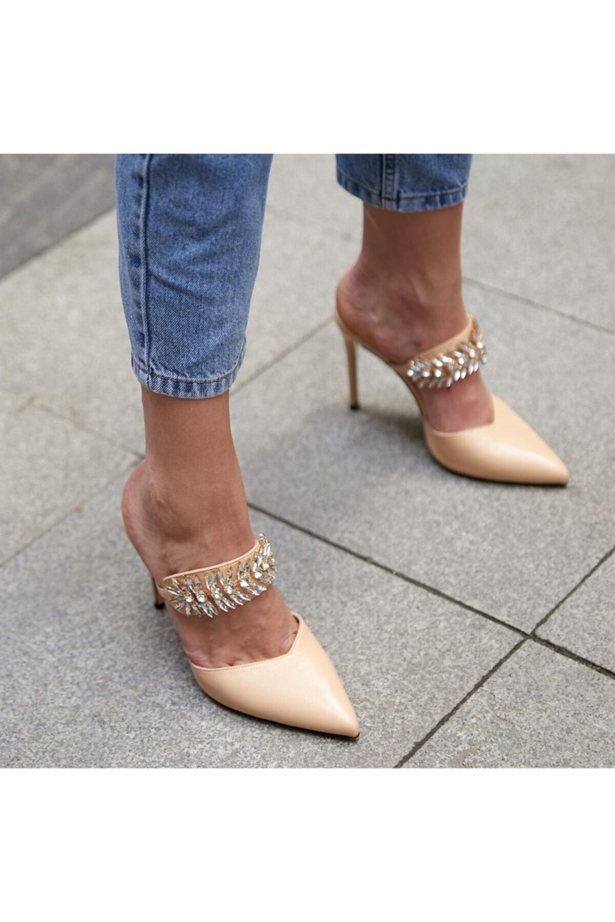 BUTİKTOZLU Kadın Tomp Nude Topuklu Ayakkabı