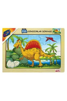 Play Wood Playwood Ahşap Eğitici Puzzle Dinozorlar Dünyası Ony-179 0