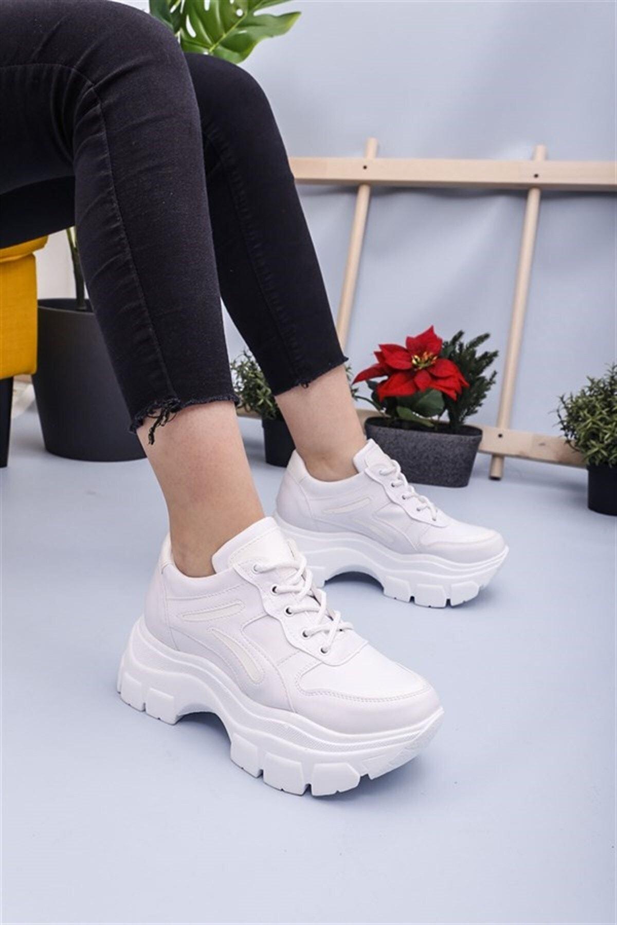RK Format Shoes Kadın Beyaz Ayakkabı