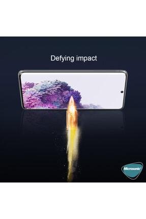 Microsonic Samsung Galaxy S20 Plus Tam Kaplayan Temperli Cam Ekran Koruyucu Siyah 1