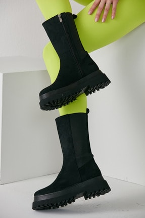 grazia shoes Kadın Siyah Bot 1