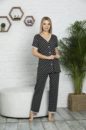 MyBen Kadın Siyah Pijama Takımı 70004 0