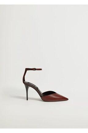 Mango Kadın Bordo Topuklu Deri Ayakkabı 0