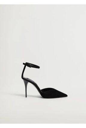 Mango Kadın Siyah Topuklu Deri Ayakkabı 0