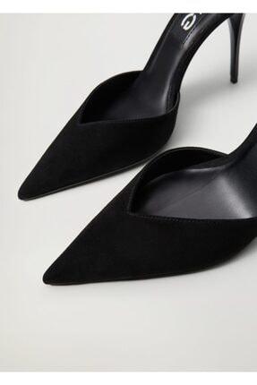 Mango Kadın Siyah Topuklu Deri Ayakkabı 3