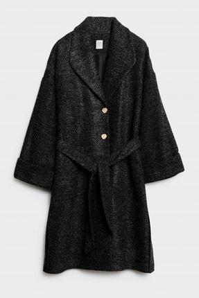 Picture of Kadın Antrasit Kemer Detaylı Rahat Form Palto