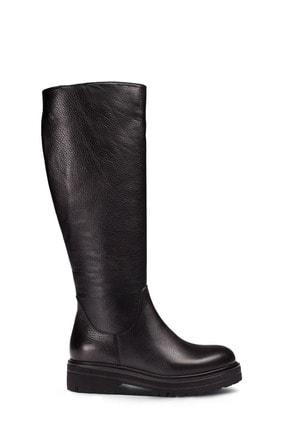 Deery Hakiki Deri Siyah Kadın Çizme 01807ZSYHE01 0