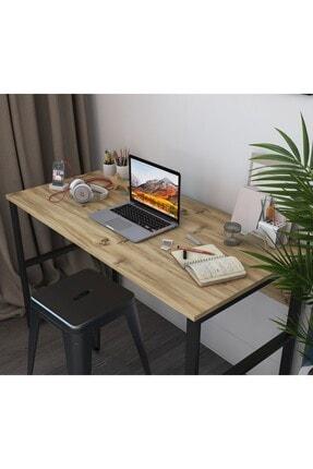 Rani Mobilya Rani C6 Çalışma Ofis Bilgisayar Masası Metal Ayaklı Modern Tasarım Açık Ceviz M1 2