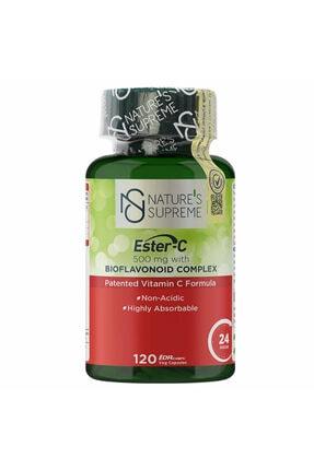 Natures Supreme Ester-c 500 Mg C Vitamini 120 Kapsül 0