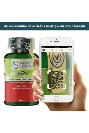 Natures Supreme Ester-c 1000 Mg C Vitamini 120 Tablet 1
