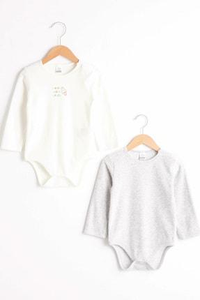 LC Waikiki Erkek Bebek Optik Beyaz E5X Bebek Body & Zıbın 0