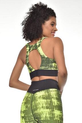 bilcee Neon Yeşil Kadın Sporcu Sütyeni-bra Gw-9227 2