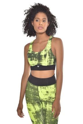 bilcee Neon Yeşil Kadın Sporcu Sütyeni-bra Gw-9227 3