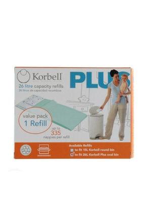 Korbell Plus 335 Adet Kirli Bebek Bezi Kapasiteli Çöp Poşeti 26lt 0