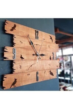 Dekoritim Kuşlar Vintage Duvar Saati 0