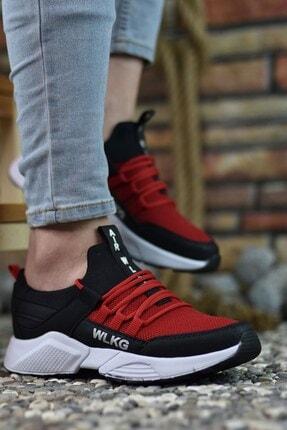 Riccon Siyah Kırmızı Unisex Sneaker 0