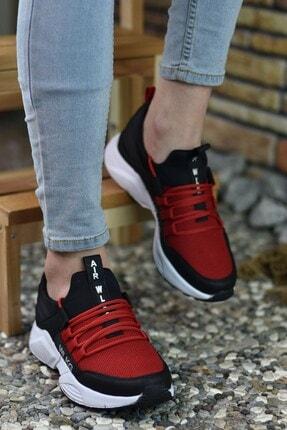 Riccon Siyah Kırmızı Unisex Sneaker 1