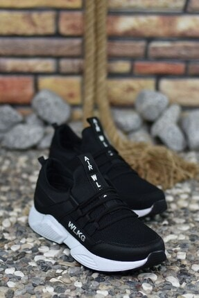Riccon Siyah Beyaz Unisex Sneaker 4