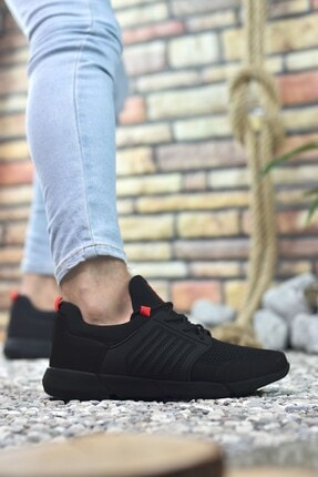 Riccon Siyah Kırmızı Erkek Sneaker 0012105 3