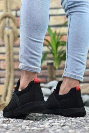 Riccon Siyah Kırmızı Erkek Sneaker 0012105 4