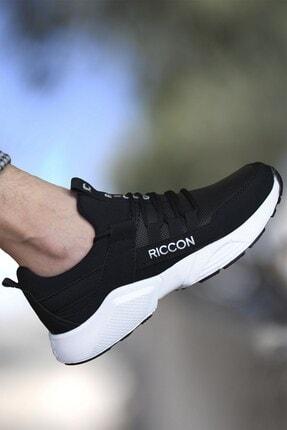 Riccon Unisex Siyah Beyaz1 Cilt Sneaker 0012072 0