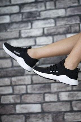 Riccon Unisex Siyah Beyaz1 Cilt Sneaker 0012072 1