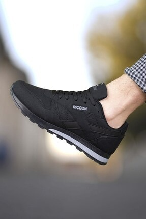 Riccon Siyah Siyah Unisex Cilt Sneaker 0012853 0